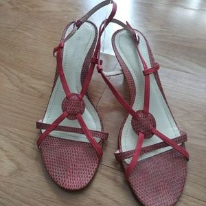 Ann Taylor Strappy Low Heels Sandals 8